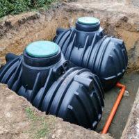 Underground rainwater storage tanks