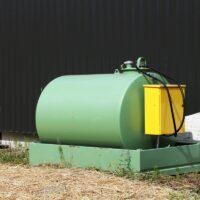 refuelling tank in a farm